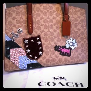 Coach X Keith Harding Charlie patchwork carryall